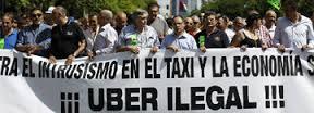 uber taxis huelga - beezhotels